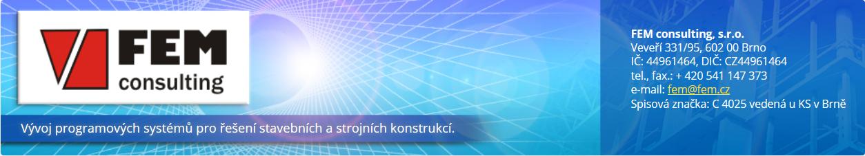 www.fem.cz – Vývoj programových systémů pro řešení stavebních a strojních konstrukcí.